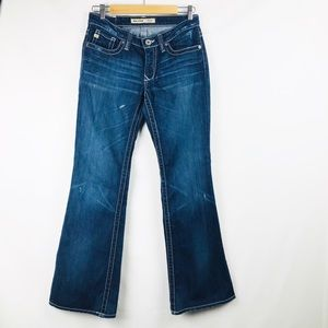 BIG STAR MADDIE MID RISE BOOT CUT JEANS SIZE 27